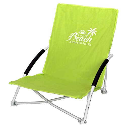 Strandstuhl Campingstuhl Summer-Beach inkl. Transporttasche Beachchair Klappstuhl Gartenstuhl Campingmöbel Gartenmöbel, Farbe:Grün