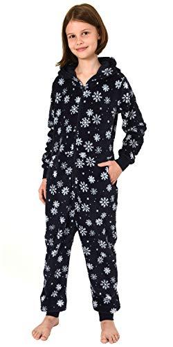 Meisjes jumpsuit Overall Onesie pyjama - IJskristal sterren optiek - 291 467 97 951, Maat: 128, Kleur: Navy