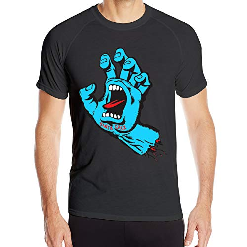 Mary S West Santa Cruz T-Shirt à séchage Rapide pour Hommes T-Shirt Militaire Hommes Camping en Plein air Chemises de randonnée à Manches Courtes