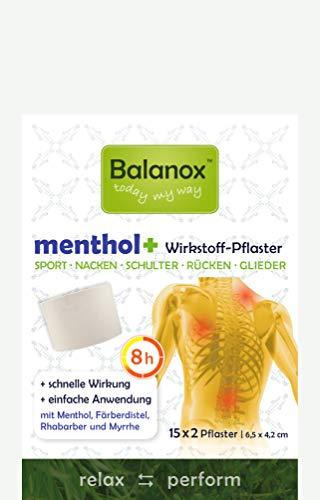 BalanoxTM menthol+ Wirkstoff-Pflaster | 30 Stück Sportpflaster für Nacken, Schulter, Rücken, Glieder | wohltuend bei Verspannungen, akuten Belastungen