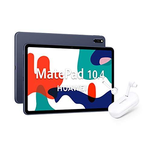 HUAWEI MatePad 10.4 - Tablet de 10.4' con Pantalla FullHD (WiFi, RAM de 4GB, ROM de 64GB, EMUI 10.0, Huawei Mobile Services), Color Gris + HUAWEI Freebuds 3i Blanco