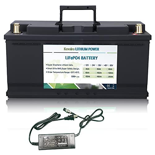 12V 100Ah Lifepo4 baterías de litio Hasta 7000 ciclos profundos para carrito de golf Solar RV Camper Batería marina y más aplicaciones incluyen cargador
