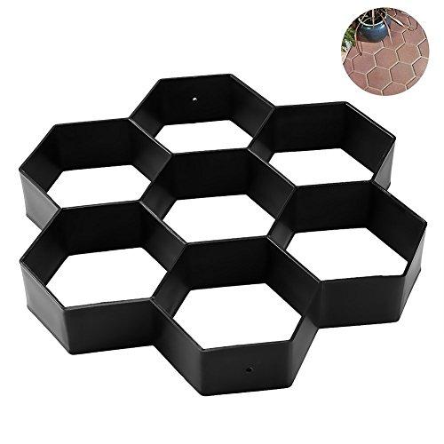 TOOGOO DIY Patio Walk Maker Trittstein Beton Pflaster Form Wiederverwendbare Pfad Maker Form Garten Pflasterstein Formen 30 * 30 cm