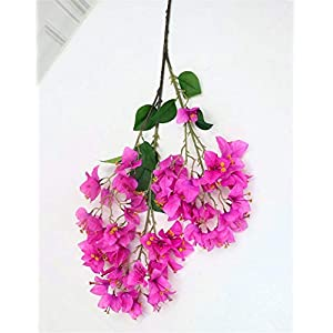 ZJJZH Artificial Decorative Flowers Fake Flower Big Three Fork Multicolor Multi-Headed Bougainvillea Artificial Flower Wedding Meeting Venue Supermarket Engineering Landscape Artificial Flowers.