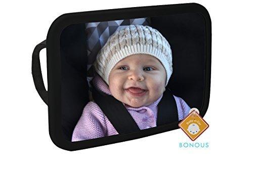 Alphabetz Max 69% OFF Large Baby Backseat Car 1 year warranty Mirror Tested-Shatterpro Crash