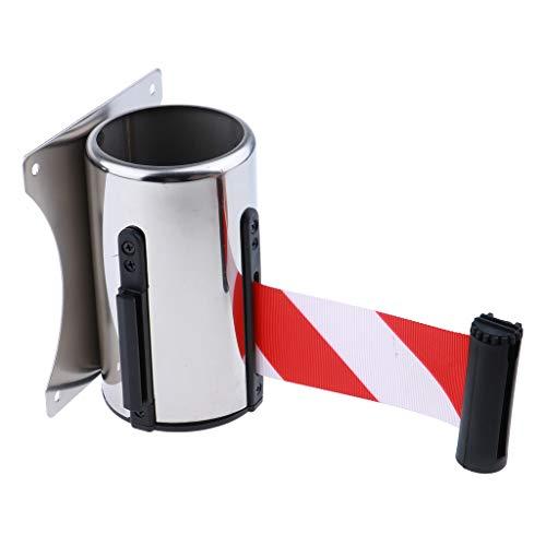 Sdenshi Indragbar avstängningstejp, barriärtejp, infällbart band för att kontrollera mängden röd vit 5 meter