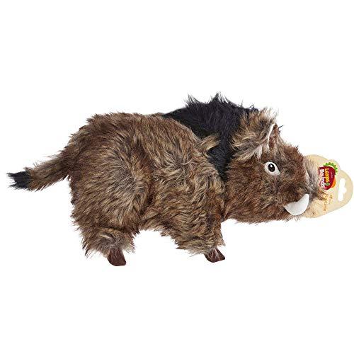 Leaps & Bounds Large Wildlife Boar Plush Dog Toy, Large, Multi-Color