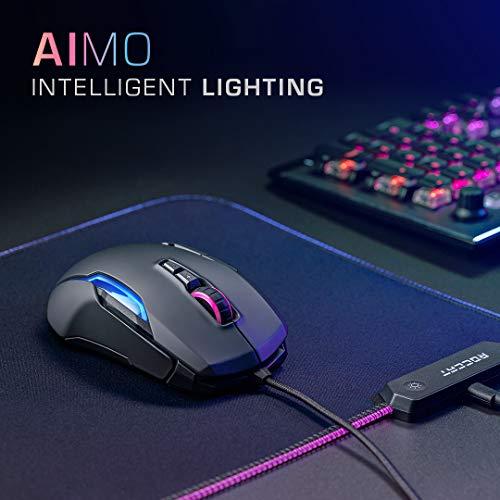 Roccat Kone AIMO Gaming Maus (hohe Präzision, Optischer Owl-Eye Sensor (100 bis 16.000 Dpi), RGB AIMO LED Beleuchtung, 23 programmierbare Tasten, Designt in Deutschland, USB), schwarz(remastered) - 4