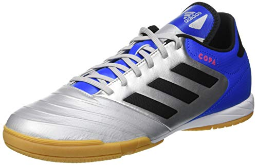 adidas Copa Tango 18.3 in, Zapatillas de Fútbol para Hombre, Plateado (Silver Metallic/Core Black/Football Blue 0), 44 2/3 EU