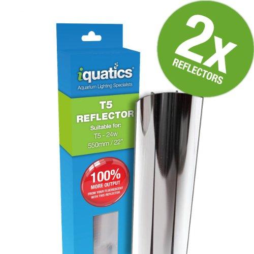 iQuatics Reflektor, 24 W, T5, Aluminium, erhöhte Ausgangsleistung um bis zu 100%