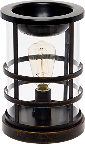 Wax Warmer with a Vintage Style Bulb - Freshener Wax Melter Mindful Design (Oil Rubbed Bronze)