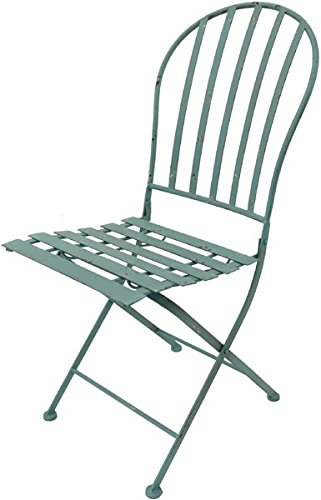 Chaise pliante antikblau h88xB40xT44 cm