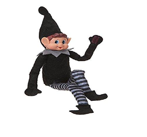 Elves Behavin Badly Elfo Flexible Flexible de 12'con Cabeza de Vinilo - Accesorio de Navidad (Chica elfa Negra)