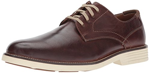 Dockers Mens Parkway Leather Dress Casual Oxford Shoe with NeverWet, Red Brown, 10.5 M