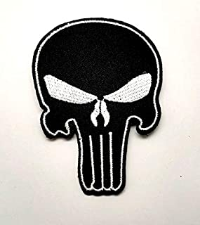 Aruno maison Punisher Skull Biohazard Zombie 04 Patch Biker DIY Iron Sew On Embroidered Patch for Denim Jacket Vest Cap
