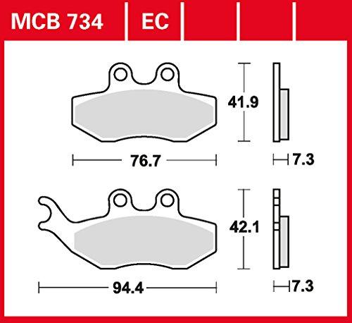 plaquette de freins Lucas MCB734 pour Aprilia MX 50 ST | Aprilia Tuono 50 | Benelli Velvet 250 M7 | Beta Alp 125 | Beta Alp 200 | Beta Alp 4.0 | Beta RR 125 Enduro | CPI GTS 200 - | Derbi Mulhace