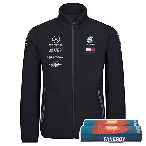 Mercedes AMG Petronas Team 2019 F1 - Chaqueta para Hombre (Softshell, Incluye 2 Pastillas de azúcar), Formel 1, Hombre, Color Negro, tamaño XX-Large