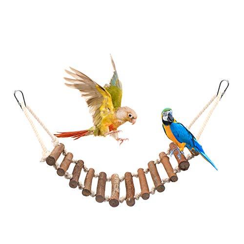 Huahao Vögel Holzleiter Vogel Ladder Spielzeug für Parrot Papageien Hamster Wellensittich, Vogel Hängebrücke Leitern für Vogelkäfige