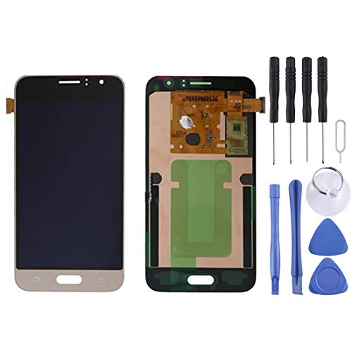 CAPOOK -LCD Display + Touch Panel for Galaxy J1 (2016) / J120A / J120H / J120M / J120T(Black) DIY (Color : Gold)