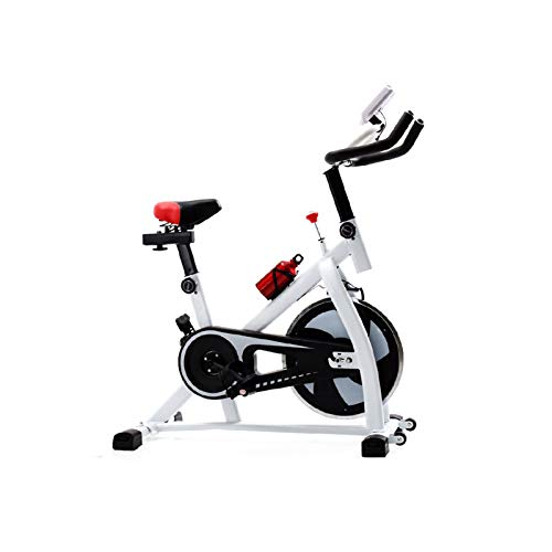 DUTUI Bicicletas Giratorias, Bicicletas Ultra Silenciosas, Equipos De Fitness para El Hogar, Bicicletas Estáticas para Interiores, Adecuadas para Hombres Y Mujeres,Blanco