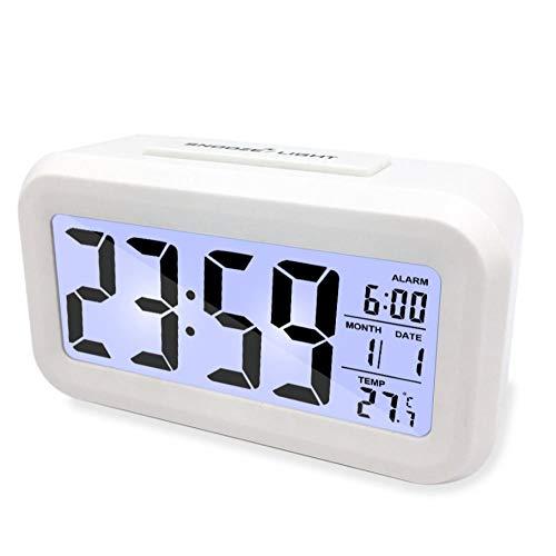 Digitale klok 's nachts multifunctionele oplading kleine wekker mannen en vrouwen oplichtend minimalistische digitale elektronische klok desktop nieuwjaarscadeau