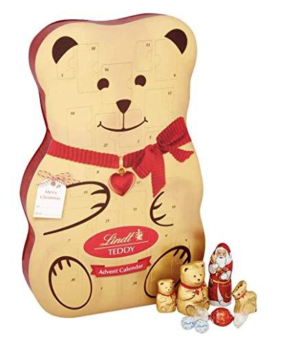 Lindt Adventskalender in Teddyform, ein leckerer Weg zum Countdown bis Weihnachten, 310 g
