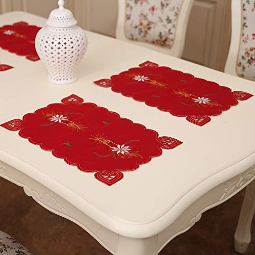 Stickte Spitze Esstisch Matte, 2 PCS Hohl Kitchen Tools Weihnachtsdeko Festival Feiern, gelegentliche Art Lieferung Mi FangDongShangMao