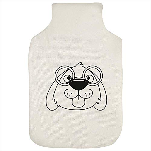 Azeeda 'Dog With Glasses' Hot Water Bottle Cover (HW00019405)