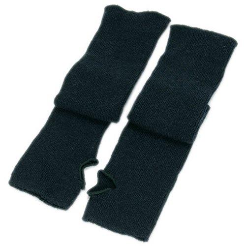 Ele Gens Damen Fingerlos Armwärmer Armstulpen Handschuhe gestrickt Lang Baumwolle (Grün)
