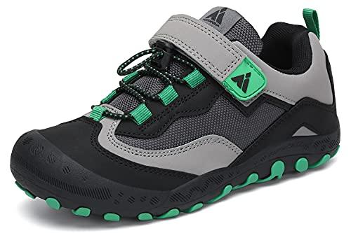 Mishansha Enfants Chaussures de Course de Randonnée Garçon Fille Outdoor Multisports Antidérapantes Sneakers Noir 35