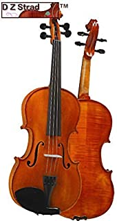 D Z Strad Violin Model 101 with Solid Wood 1/2 Half Size with Case, Bow, and Rosin (1/2 - size)
