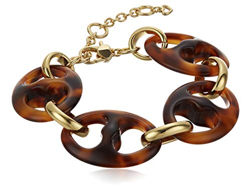 Kate Spade New York Duo Link Resin Link Bracelet Tortoise One Size