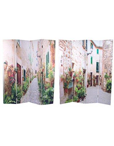 Hogar y Mas Biombo Separador de Ambientes, Grande, fotoimpresión, de 4 Paneles. para Salon/Comedor. 180x152 cm.