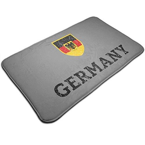 Alfombra de bandera de fútbol de fútbol alemán de Alemania Vintage 19.5 'X 31.5' Antideslizante Puerta resistente a la decoloración Alfombra de interior al aire libre Alfombra de habitación