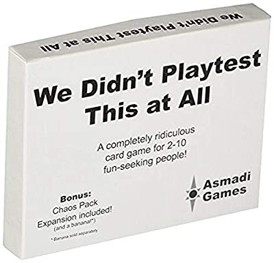 Asmadi Games We Didn't Playtest This at All - with Chaos Pack by Asmadi Games