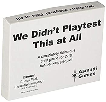Asmadi Games We Didn t Playtest This at All - with Chaos Pack