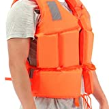 VisvimQ Leichter Nylonschaum für Erwachsene Schwimmgröße mit SOS Sport Durable Water Schwimmweste Zubehör Verstellbare Schwimmweste Jacke Weste