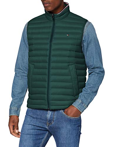 Tommy Hilfiger Packable Down Vest Chaqueta, Hunter, XXL para Hombre