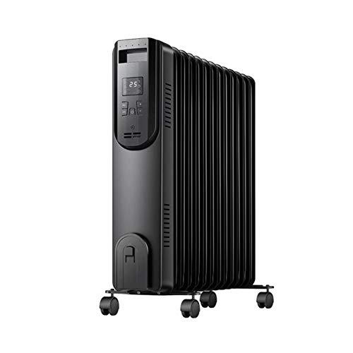 DongZhou Calentador de Aceite de 2000 W sin luz, silencioso, Calentador eléctrico...