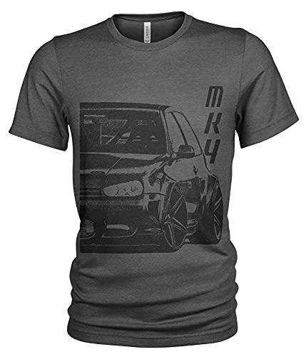Slammed GTI Golf MK 4 Herren T-Shirt (XL, Dunkelgrau)
