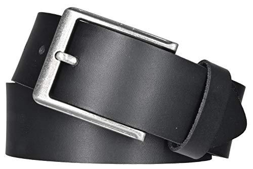Mytem-Gear Leder Gürtel 4 cm Jeansgürtel Ledergürtel kürzbar (85 cm, Schwarz (Ledergürtelschlaufe))