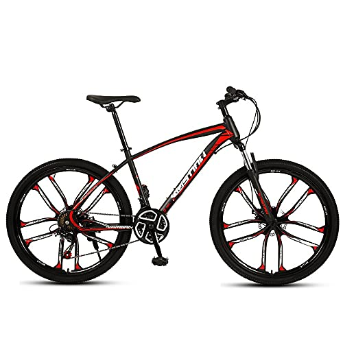 NAINAIWANG 26 inch 21/24/27 Speed Mountain Bike High Carbon Steel Full Frame Bicycle MTB Bicycle for Adult Double Disc Brake Outroad Mountain Roads Highways Bicycle for Men Women