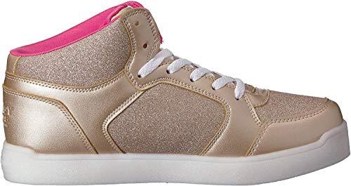 Skechers Mädchen Energy Lights: E-pro Glitter Glow Hohe Sneaker, Gold (Gold Gld), 37 EU