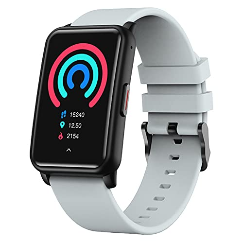 APCHY Smart Watch, Fitness Trackers 10 Modos Deportivos Tasa de corazón SpO2 Monitor, 5atm Impermeable IP68 Pedómetro Impermeable Control de música Monitor de sueño,Gris
