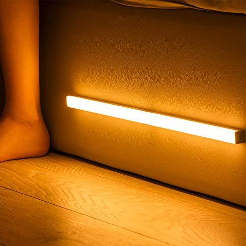 Libobo-001 LED Notturno Luce Movimento Sensore Armadio Luce USB Ricaricabile con Strisce Magnetiche Attacco Armadio Armadio Armadio Scale da Cucina Muro Caldo Bianco