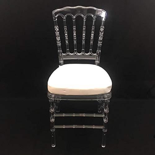 Générique Lote de 4 sillas napoleón Transparentes