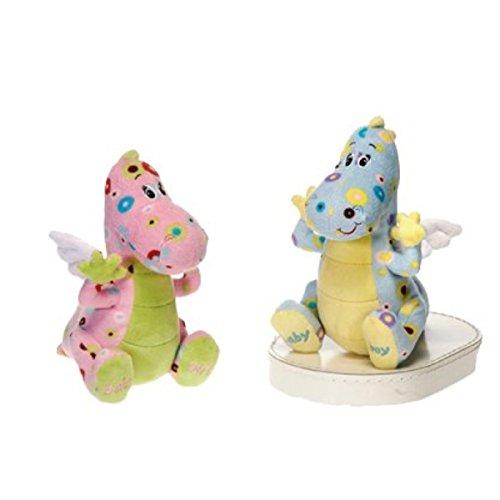 20,3 cm Bleu et Jaune en peluche bébé dragon pour enfant/garçon cadeau pour nouveau-né/It's a Boy.