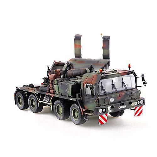1yess Militares de Coches Juegos de construcción, Alemania 1/35'Tractor camión Cisterna Modelo de plástico, Juguetes for niños (22.4Inch * * 4.1inch 3.4inch)