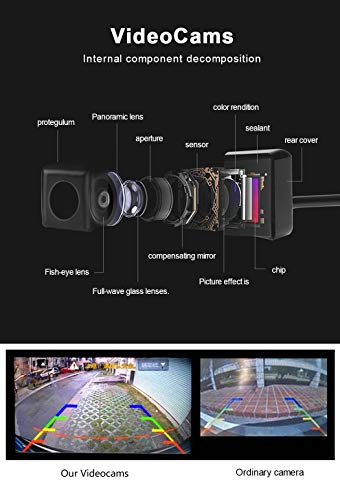 WeniChen 360 Degree Bird View Car Parking Assistance Panoramic View All Round 4 HD Camera System with DVR Parking Monitoring Driving Record for All Car