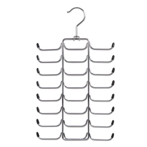 Zeller 17147 Krawatten-/Gürtelhalter, Metall verchromt, ca. 21 x 40 cm